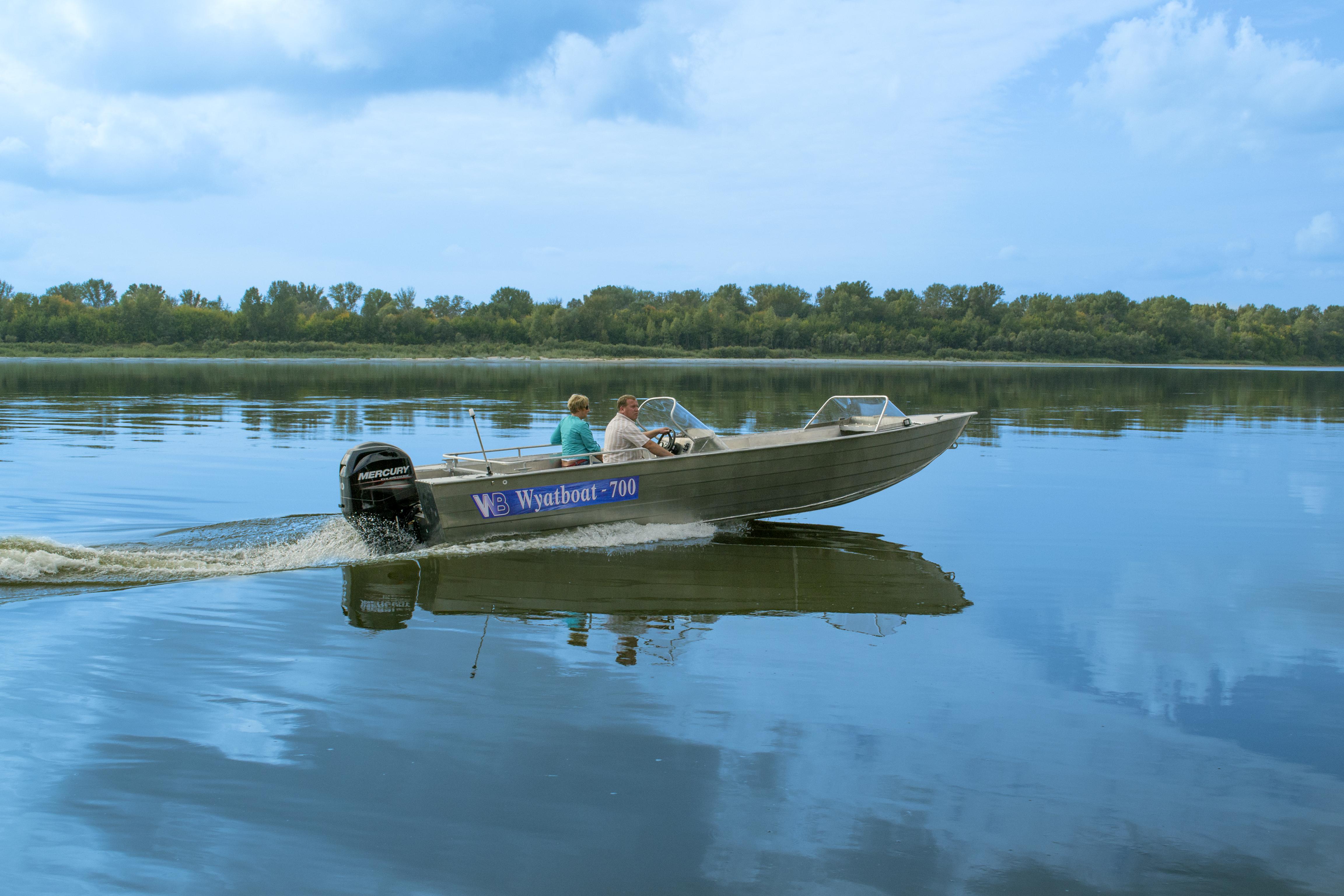 Алюминиевые моторные лодки в Москве от производителя WyatBoat.